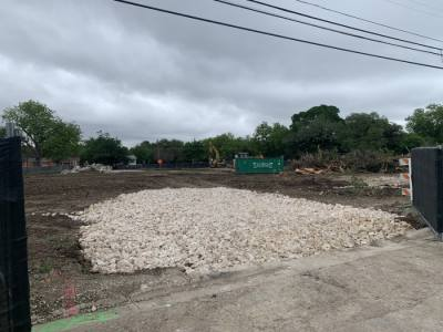 The new public library will be located on the northwest corner of North Sheppard Street and East Liberty Avenue in Round Rock. (Megan Cardona/Community Impact Newspaper)