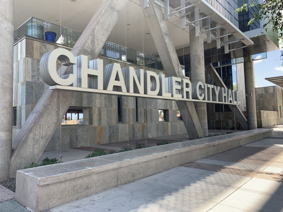 The city of Chandler headquarters is in downtown Chandler. (Alexa D'Angelo/Community Impact Newspaper)