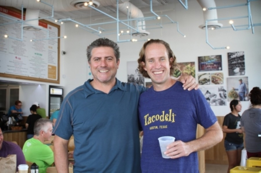 Tacodeli co-owners Roberto Espinosa and Eric Wilkerson opened their first location in 1999. The seventh location for the local chain in Austin will open this summer in Circle C. (Courtesy Tacodeli)