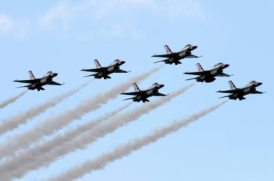 The U.S. Air Force Thunderbirds perform demonstrations across the country. (Courtesy Tech. Sgt. Manuel J. Martinez/U.S. Air Force)