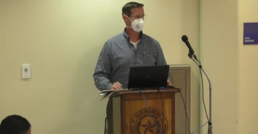 Mike Doyle, the district's director of federal programs, told board members May 17 that SMCISD will seek more than $16 million as part of a grant to help SMCISD with COVID-19 recovery. (Screenshot courtesy San Marcos CISD)