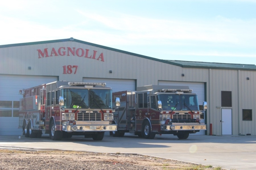 Emergency Services District No. 10 contracts with the Magnolia Volunteer Fire Department to provide services. The MVFD's Station 187 opened January 2018 in Pinehurst. (Anna Lotz/Community Impact Newspaper)