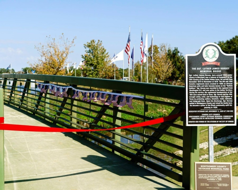 The Sgt. Luther James Dorsey Memorial Bridge was dedicated in November. The upcoming Memorial Day event includes the dedication of several more structures. (Courtesy Taylorized PR)