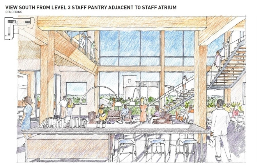 This rendering shows ideas for the McKinney city staff area on the third floor. (Rendering courtesy city of McKinney)