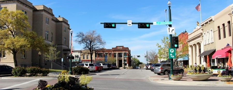 downtown McKinney intersection