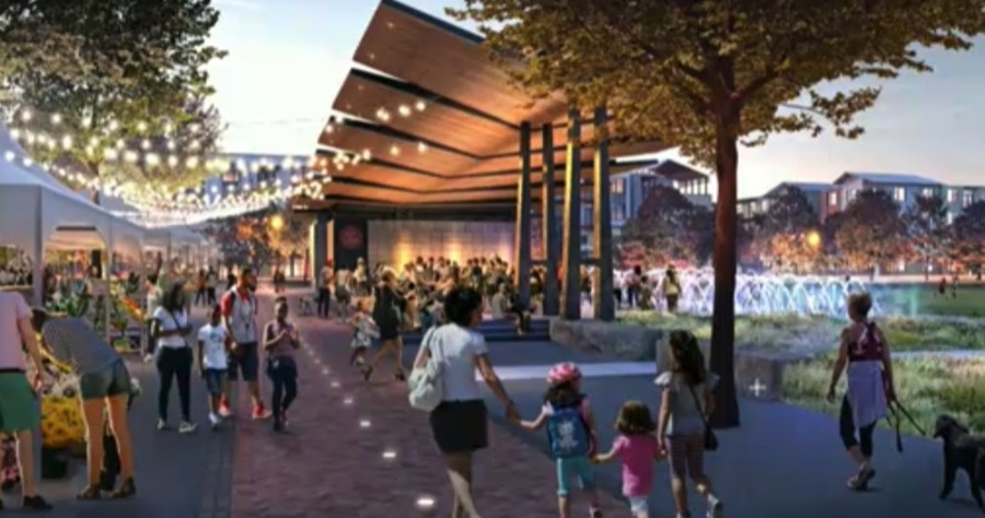 A rendering shows one perspective of what will be Heroes Memorial Park in Kyle. (Rendering courtesy city of Kyle)
