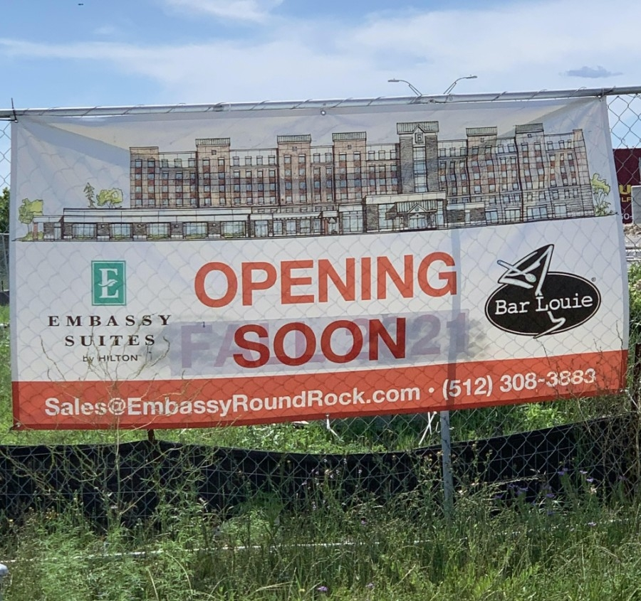 Embassy Suites by Hilton will be opening its Round Rock location on Bass Pro Drive in October. (Amy Bryant/Community Impact Newspaper)