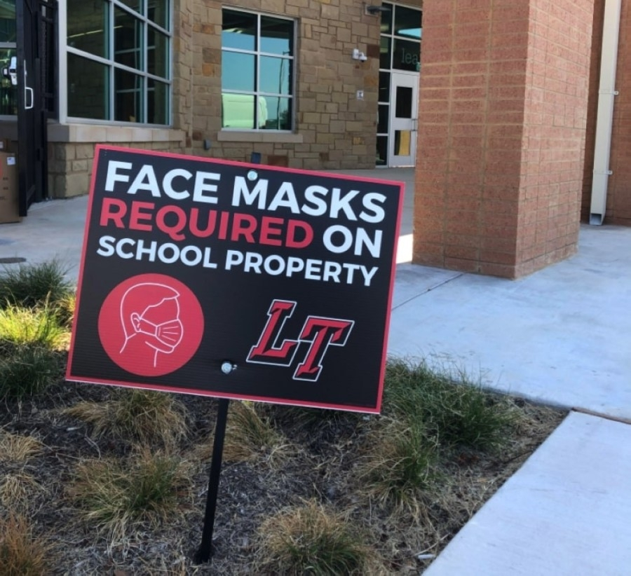 Face masks will become optional on Lake Travis ISD campuses May 24. (Amy Rae Dadamo/Community Impact Newspaper)