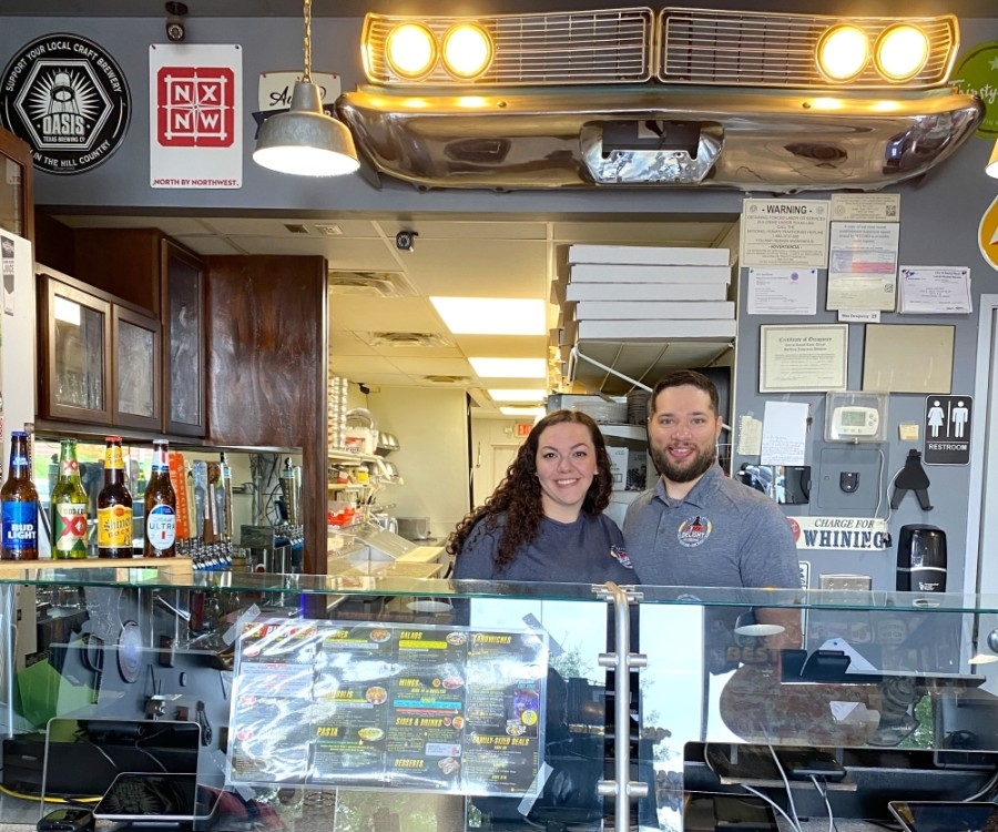 Samantha and Curtis Whalen took over ownership of Pizza Delight in Round Rock on May 3. (Trent Thompson/Community Impact Newspaper)