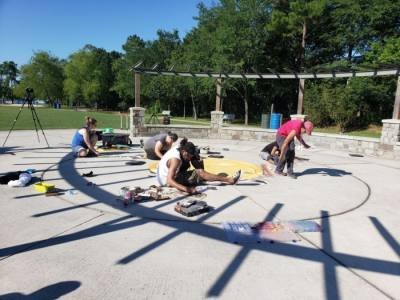 The annual Live Chalk Art Fundraiser will take place at Tamina Park on May 31. (Photo courtesy of Tamina Cemetery)