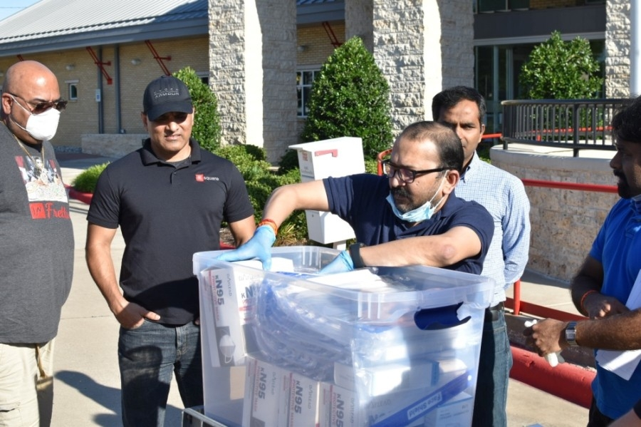 Members of the Frisco Indian Affairs Committee raised funds to help purchase personal protective equipment for first responders and city personnel in June 2020. (Courtesy Frisco Indian Affairs Committee)