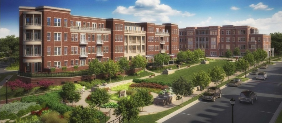 A rendering of the Garden District project in Southlake.