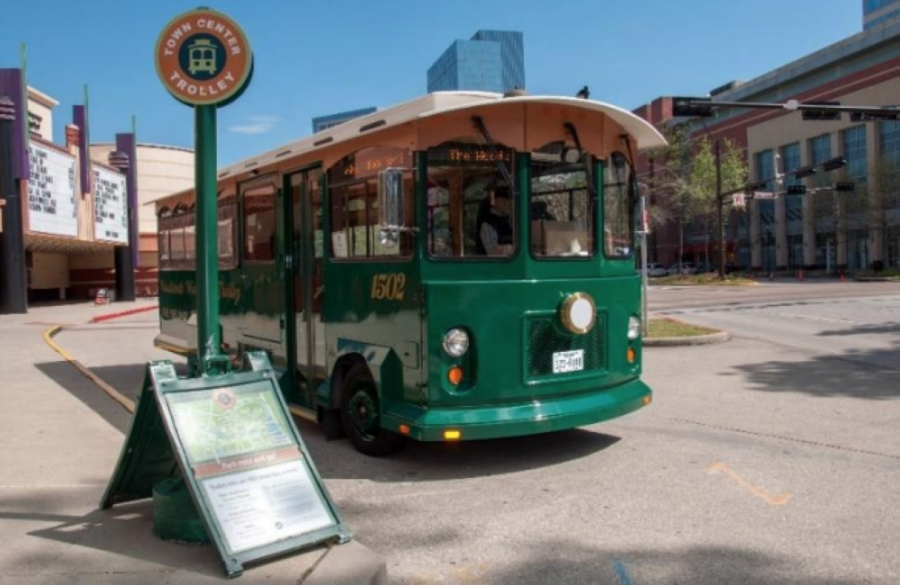 Masking is still required on The Woodlands' Town Center Trolley service. (Courtesy The Woodlands Township)