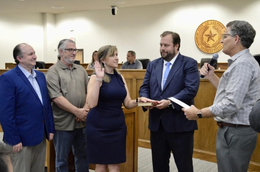 Christine Sederquist was sworn in as mayor May 20. (Taylor Girtman/Community Impact Newspaper)