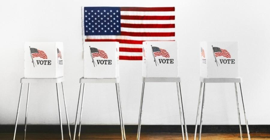Vote booths.