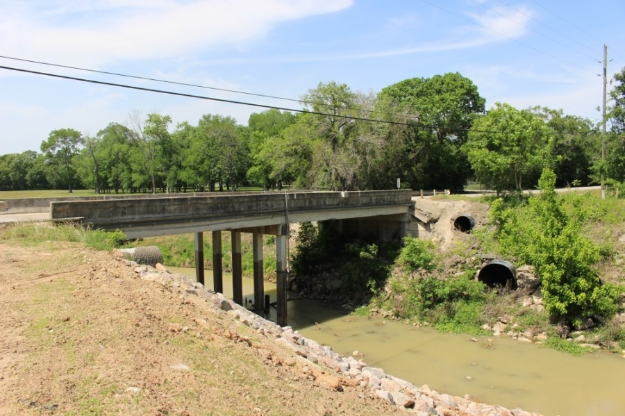 In addition to widening the road, the project will include the construction of a new Greenbusch Road bridge over Buffalo Bayou. (Morgan Theophil/Community Impact Newspaper)