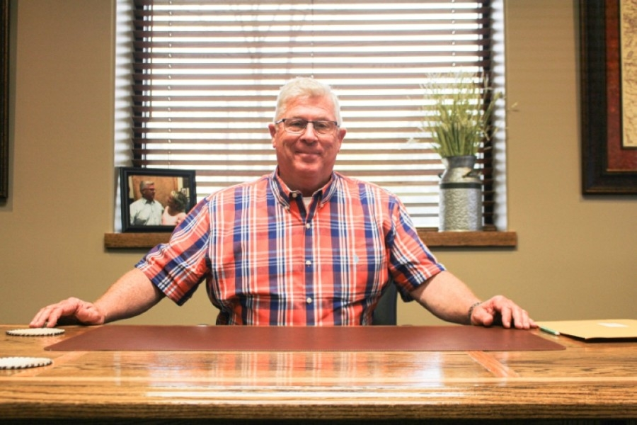 Robert Walker replaced the county's longest-standing commissioner Mike Meador, who is also his cousin. (Eva Vigh/Community Impact Newspaper)