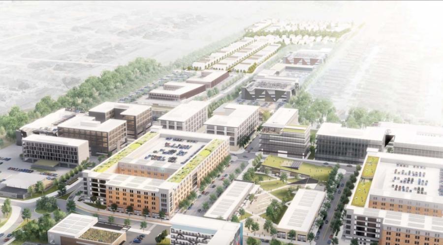 rendering with buildings
