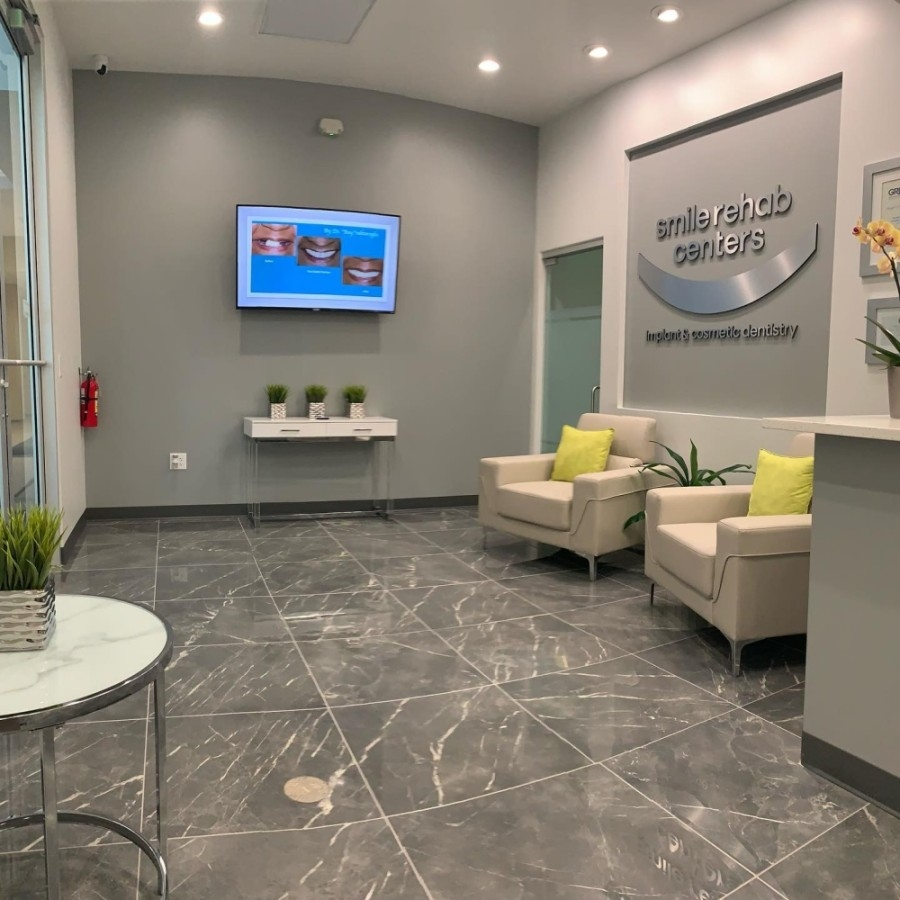 the lobby of Smile Rehab Centers dental practice