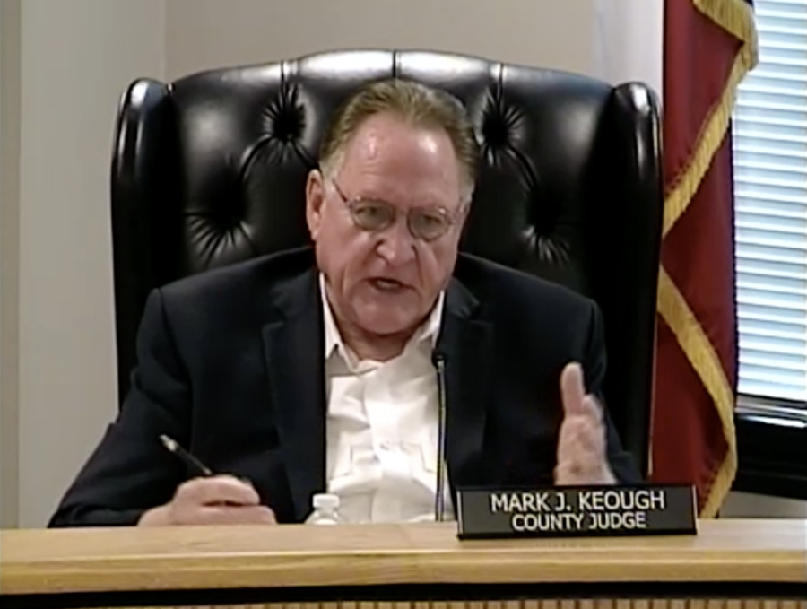 The Montgomery County Commissioners discussed new voting machines during a May 25 meeting. (Screenshot via Montgomery County livestream)