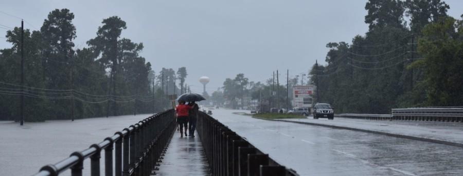 bridge over flooded Cypress Creek