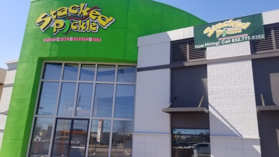 Stacked Pickle, an Indiana-based sports bar, will celebrate the grand opening of its first Houston location June 11 at 6944 FM 1960 W. Road. (Courtesy Stacked Pickle)