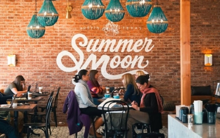 Summer Moon Coffee opened its Friendswood location in May. (Courtesy Summer Moon Coffee)