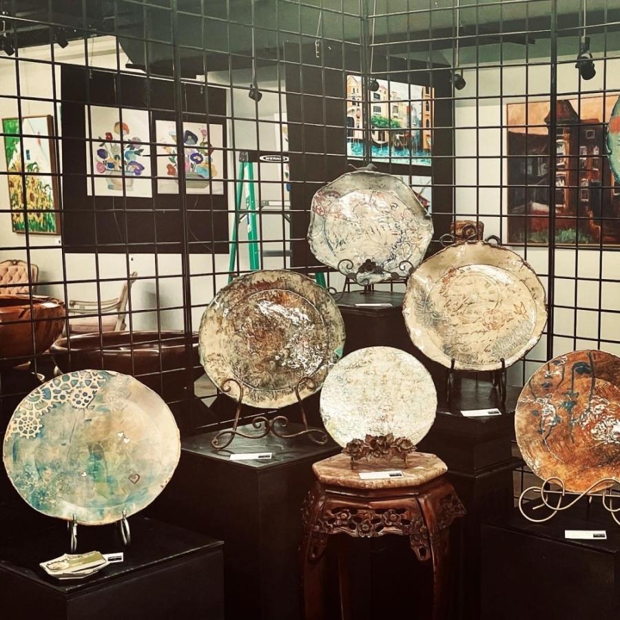 Kimberly Hardick, a ceramic artist, will debut Bella Bottega, a collective artist community, at 903 Honea Egypt Road, Magnolia. (Courtesy Kimberly Hardick)