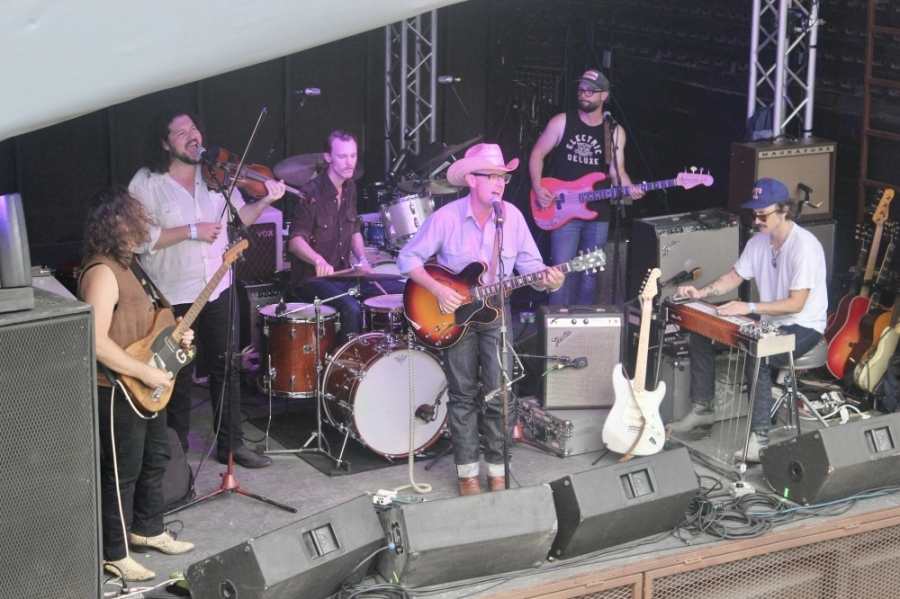 The Tender Things warmed up Mohawk Austin's stage May 27 as the venue welcomed its first musicians and patrons in over a year. (Ben Thompson/Community Impact Newspaper)