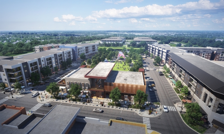 EastVillage, a more than $1 billion, 425-acre project in Northeast Austin, is set to break ground in early June. (Rendering courtesy Reger Holdings)