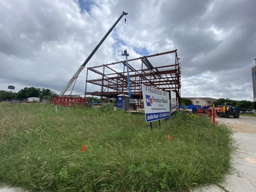 City Centre 2 is the second of four retail/office buildings planned to occupy the property at 551 S. I-35. (Community Impact Newspaper/Brooke Sjoberg)