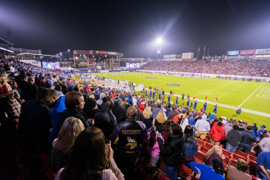 fans gathered at football game