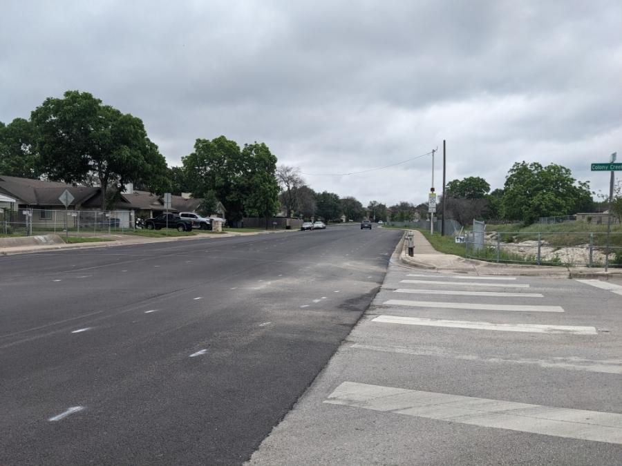 Parkfield Drive in North Austin