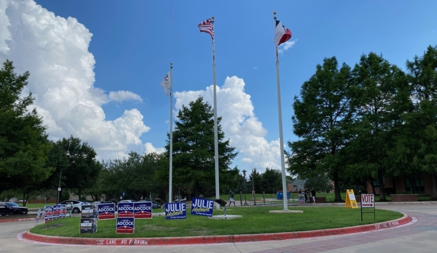 elections signs and flags