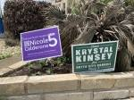 Unofficial Election Day results in the June 5 Runoff Election for Hutto City Council Place 5 came in just after 9 p.m., showing Krystal Kinsey maintaining a lead over Nicole Calderone. (Megan Cardona/Community Impact Newspaper)