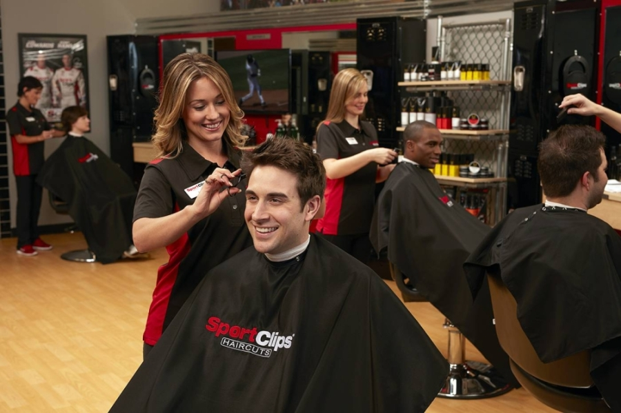 Sport Clips Haircuts of Humble-Townsen Crossing celebrated its grand opening April 29 at 9490 FM 1960 Bypass, Humble. (Courtesy of Sport Clips Haircuts)
