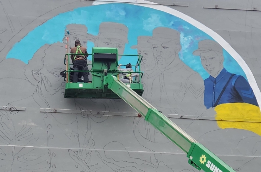 """""""Absolute Equality,"""" a mural on slavery in the U.S., will be unveiled June 19 in Galveston. (Courtesy Juneteenth Legacy Art Project)"""