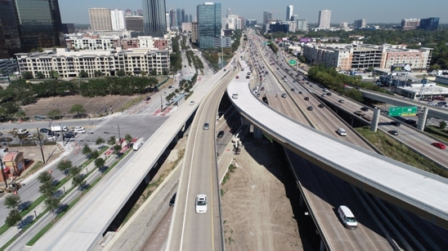 The northbound connector ramp from Hwy. 59 to northbound Loop 610 in southwest Houston will close completely starting at 9 p.m. June 10 and will remain closed until early 2022. (Courtesy Texas Department of Transportation)