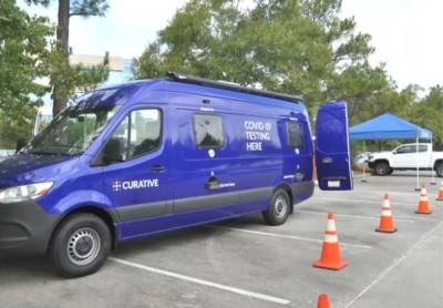 Curative has operated COVID-19 testing sites in The Woodlands, and it has partnered with the township to offer vaccines this summer. (Courtesy The Woodlands Township)