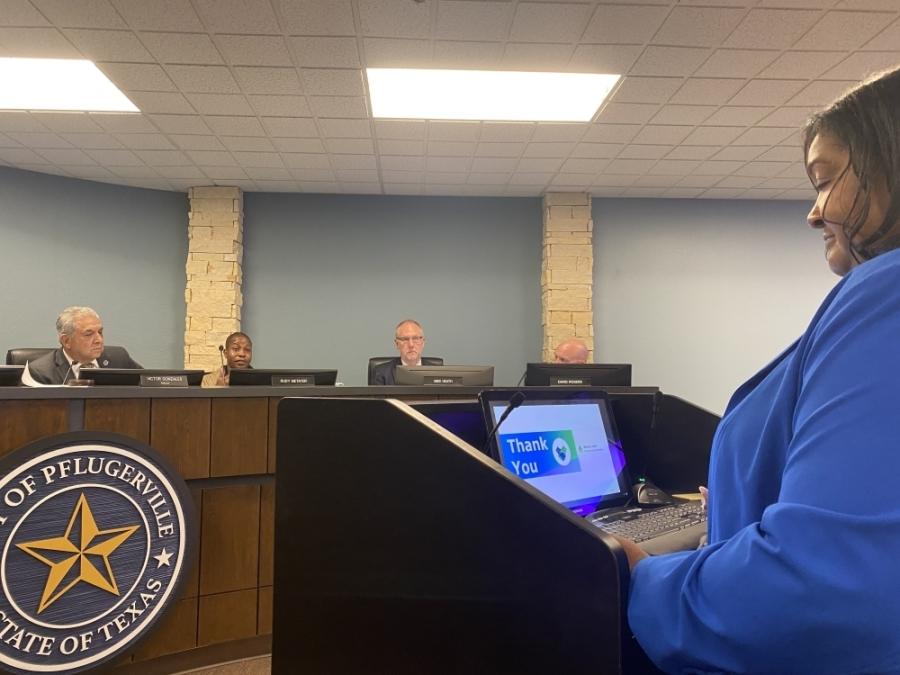 Nicole Little, the city's business process analyst, broke down a broad list of possibilities during the meeting and told officials the city is eligible for up to $6.1 million. (Brian Rash/Community Impact Newspaper)