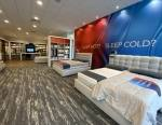 Beds on display in a Sleep Number store