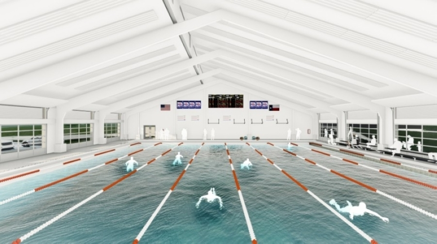 Eanes ISD is scheduled to complete its new aquatics facility by the end of December. (Rendering courtesy Eanes ISD)