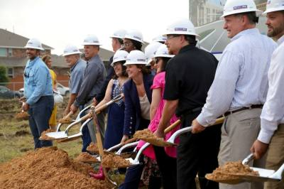 Hays CISD board members, leadership and community stakeholders participated in a June 9 groundbreaking of Sunfield Elementary School. (Courtesy Hays CISD)