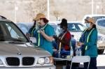 Photo of a drive-thru vaccine clinic