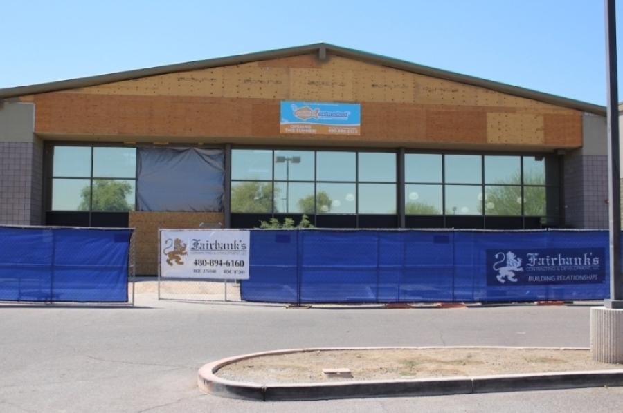 Goldfish Swim School anticipates opening June 15 in Gilbert. (Tom Blodgett/Community Impact Newspaper)