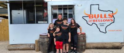 Bulls & Bellows is a veteran-owned business offering craft barbecue and side dishes made from family recipes. (Courtesy Bulls & Bellows BBQ)