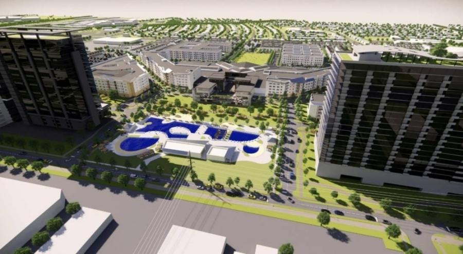 rendering of development