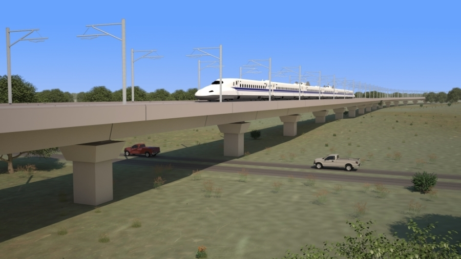Texas Central has signed a $16 billion contract with Webuild to lead the civil construction team that will build the train. (Rendering courtesy Texas Central)