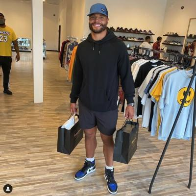 Dallas Cowboys quarterback Dak Prescott was one of the store's first customers when it opened in April, according to the owner. (Courtesy Prized Kicks)