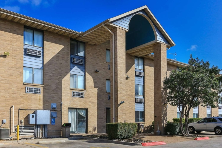 The former hotel off I-35 had most recently been used as a COVID-19 homeless Protection Lodge. (Courtesy City of Austin)